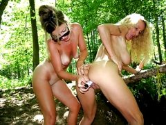 2 hot lesbian milf toying in forest – amateur compilation