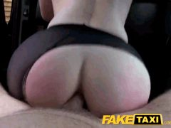 Anal with a big ass in a taxi