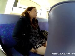 Asian Girl Peeing On A Bus