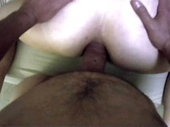 Bartender gets tied up and both holes fucked with painal