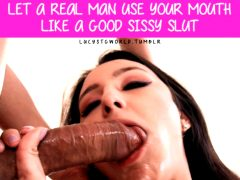 Brunette Big Cock Use Your Mouth Sissy Caption