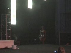 Caprice Stripping On Stage