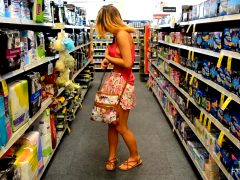 Charlotte Adorably Flashing In A Store