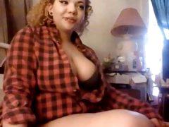 Cute chubby girl on Skype (part 1)