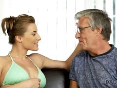 DADDY4K. Guy catches girlfriend and dad having old and young