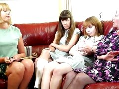 Double Caning For Misbehaving Girls 1