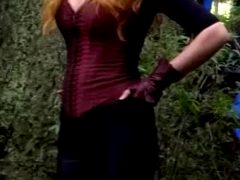 Elizabeth Olsen's Scarlett Witch Corset
