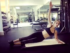 Emma Roberts Working Out