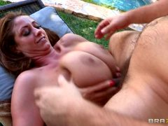 Eva Makes Him Cum With Her Big Tits