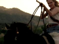 Evan Rachel Wood, On Horseback From Westworld Trailer.