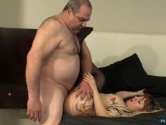 Fat Daddy Fucks His Daughter Slowly