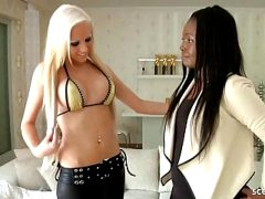 FIRST TIME LESBIAN CASTING WITH GERMAN EBONY TEEN IN HAMBURG