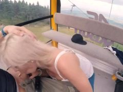 Fuck In Ski Lift And Leaving Cum On Floor Of Lift Behind