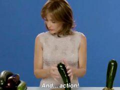 Gillian Anderson Edging A Zucchini
