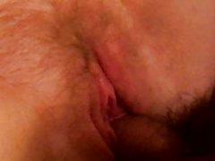 Hairy fuck, cum on titties and orgasm