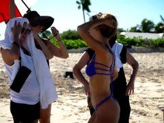 Hannah Ferguson Twerks In Bikini