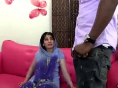 Indian Girl Intimidated By Big Black Cock