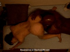 Japanese woman on all fours as she gets her pussy eaten