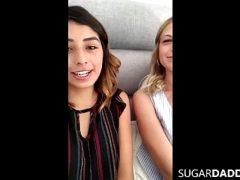 Latina & Blonde HOT TEENS Fuck SugarDaddy On Vacation