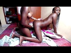Lesbian Ebony strapon show on CB 21 Mars 2020