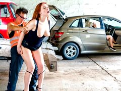 LETSDOEIT – Nympho Redhead Trades Sex For A Ride