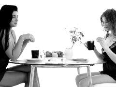 lucy and heidi romantic breakfast