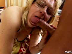 Mature Blonde Licks Shaft