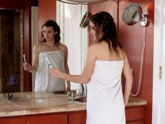 "Melissa Johnson Enjoys Her Toothbrush In ""Barely Legal"""