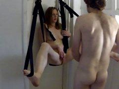 MILF in her sex swing