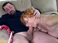 Red Haired Grany With Big Boobs, Marianne Likes To Get Her Pussy Licked, Before Getting Fucked