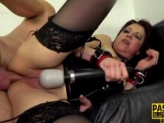 Rimming fetish milf submissive gets anal