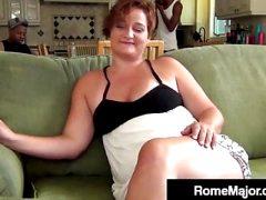 Rome Major Fucks Phat Milf Scarlette With 2 Black Dick Bros!
