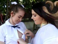 Schoolgirl Riley Reid Has A Close Encounter With Horny Sex Demon Valentina Nappi