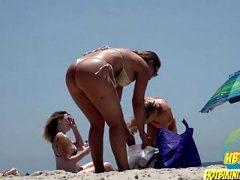 Sexy Bikini Hot Ass teens Spied At The Beach Hidden Cam