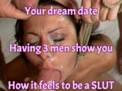 Sexy sissy eating cum
