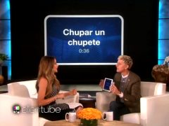 "Sofia Vergara Mimes A Pacifier Whilst Playing ""Heads Up"" With Ellen"