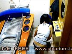 Solarium Cam Horny hot girl matures in public Solarium