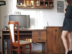 Teens from Poland office fuck