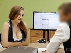 VIP4K. Big-tittied chick knows how to earn good money quickl
