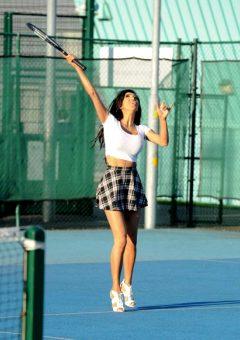 Chloe Khan Jugando Al Tenis En Manchester Sabado 15 Octubre