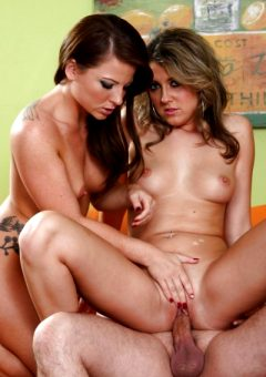 Co-ed Hotties Each Get Their Own Creampie