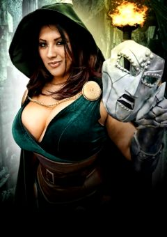 Ivy Doomkitty Cosplay As Dr. Doom