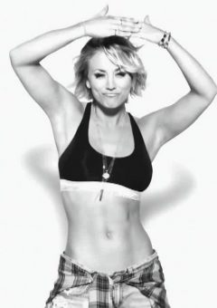 Kaley Cuoco Belly Show Off