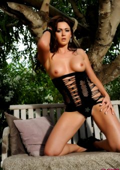 Kat Dee Strips Nude From Her Tight Black Dress