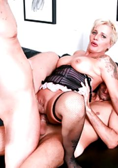 LETSDOEIT – DP Mature Lover Getting Fucked By 2 Big Cocks