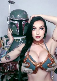 One Lucky Bounty Hunter – Cubbi Thompson As Slave Leia
