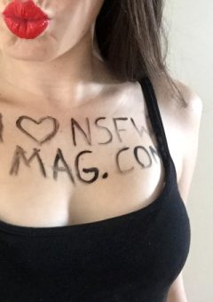 Sexy fan shows how much she loves NSFW MAG