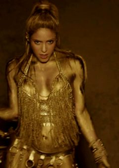 Shakira Is A Gold Goddess