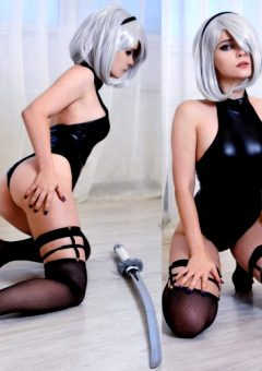 Which Angle Of 2B Is Your Favorite – Front Or Back? ~ By Evenink_cosplay
